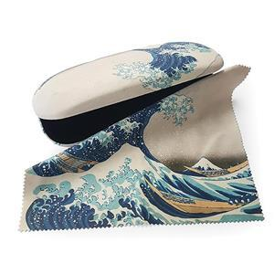The Great Wave off Kanagawa Glasses Case and Lens Cloth