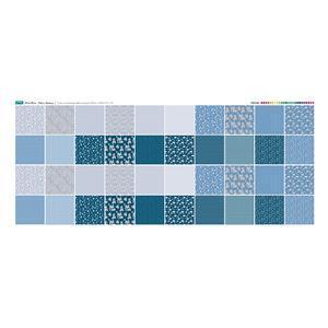 Misty Blue Fabric Squares Panel 140 x 59cm