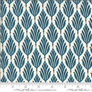 Moda Cider Blue Apple Leaf Fabric 0.5m