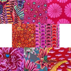 Kaffe Fassett 2021 Collective Hot Pinks Fabric Bundle (4m)