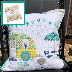 Delphine Brooks' Moda Mill Happy Camping Cushion Kit: Instructions, Charm Pack & Fabric (0.5m)