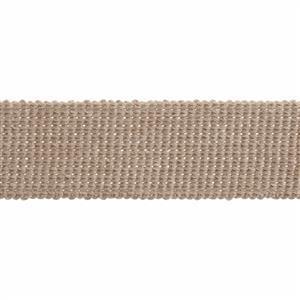 Essential Trimmings Stone Cotton Webbing 1m
