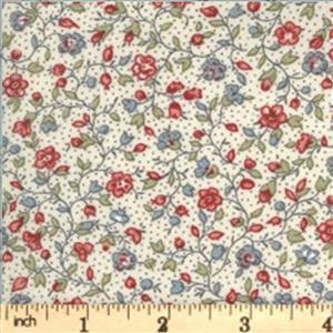 Moda Jardin De Fleurs in Cream Blossom Fabric 0.5m