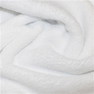 White Supersoft Fleece Fabric 0.5m