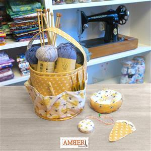 Amber Makes Busy Bee Craft Storage Set Kit, Instructions, Panel and Style-Vil (0.5m)