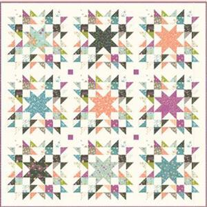 Moda Balboa by Sherri & Chelsi Timeless Quilt Kit, Pattern, Fat Eighths (30pcs) FQ (8pcs) & Fabric (6.5m)