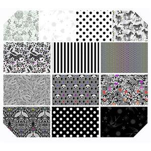 """Tula Pink Linework 4.75"""" Hexi Pack of 42 Pieces"""