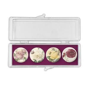 Mixed Roses Crystal Magnets set of 4