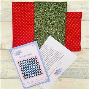 Living in Loveliness - Christmas Pinwheel Quilt Kit - Option 2