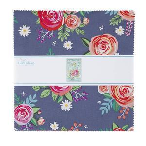 """Riley Blake Poppy & Posey 10"""" Charm Pack of 42 Pieces"""