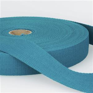 Teal Blue Cotton Webbing 1m x 40mm