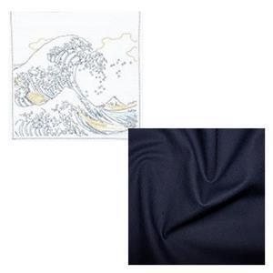 Hana-fukin Waves Ukiyoe Sashiko Kit Includes Free FQ