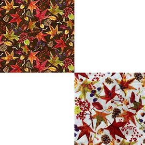 Under £15 Harvest Whisper Mixed Leaves Fabric Bundle (1m)