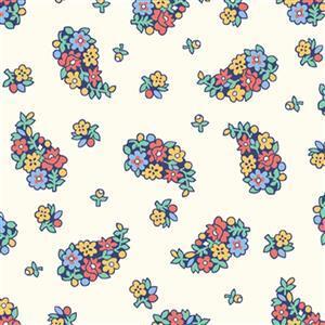 Liberty Carnaby Collection Portobello Paisley Cream Fabric 0.5m