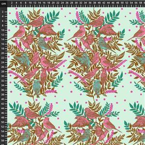 Anna Maria Horner Bright Eyes in Visitation Seafoam Fabric 0.5m