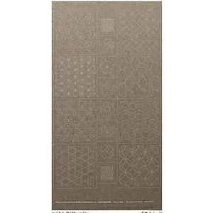 Sashiko Tsumugi Preprinted Geo 19 Grey Fabric Panel 108x61cm