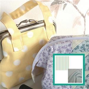Riley Blake Striped Songbird Retro Mini Purse Kit: Instructions & FQ's (2pcs)