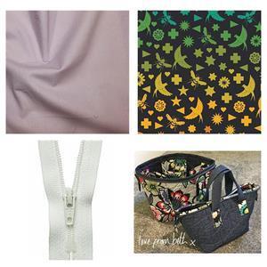 Alison Glass Bees Open Pocket Bag Kit: Pattern, Fabric (2m) & Zip