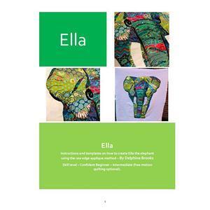 Delphine Brooks' Ella Elephant Applique Wall Hanging Instructions