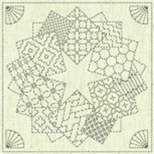 """Sashiko Star Fabric Panel 30 cm x 30 cm (12"""" x 12"""")"""