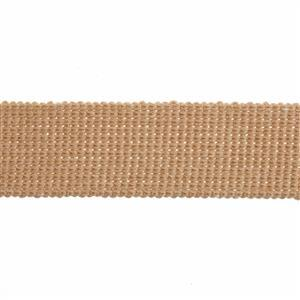Essential Trimmings Tan Cotton Webbing 1m
