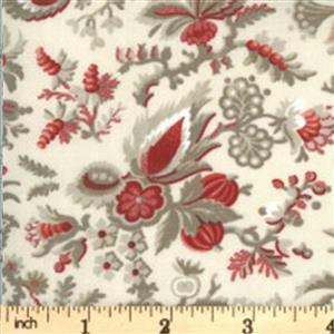 Moda Jardin De Fleurs in Cream Floral Fabric 0.5m