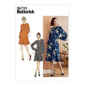 Butterick Long Sleeve Misses' Dress Pattern: Size 6-14