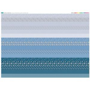 Misty Blue Fabric Strips Panel: 140 x 108cm