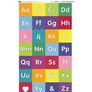 Nursery Wall Hang Alphabet Bright Fabric Panel 70x116cm