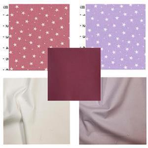 Lavander & Pink Star Baby Playmat Bundle: FQ (4pcs) & Fabric (1.5m)