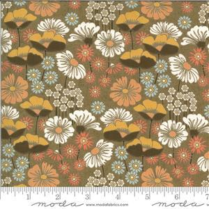 Moda Cider Brown Floral Multi Fabric 0.5m