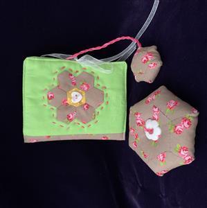 Allison Maryon's Rose & Green Travel Sewing Kit