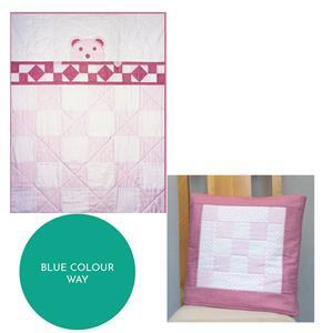Village Fabrics Blue Teddy Bear Quillow