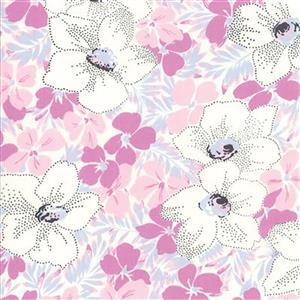 Moda Fine & Sunny Blueberry Crush Floral Fabric 0.5m
