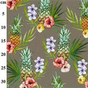 Early Bird Special - Tropical Taupe Cotton Canvas Fabric Bundle (1m). Save £3