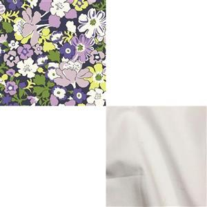 Under £15 liberty Carnaby Collection Westbourne Posy Purple Fabric Bundle (1m)