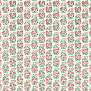 Liberty Emporium Collection Merchant Bright's Palmeria Red Fabric 0.5m