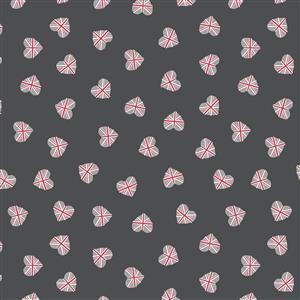Lewis & Irene Britannia Union Jack Hearts on Black Fabric 0.5m