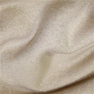 Nude Cotton Lurex Jersey Fabric 0.5m