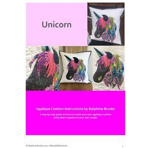 Delphine Brooks Unicorn Applique Cushion Instructions