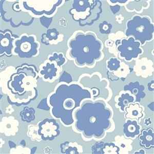 Liberty Carnaby Collection Cosmos Cloud Blue Fabric 0.5m