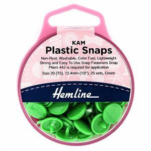Green Plastic Snaps 25 x 12.4mm