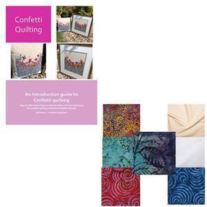 Delphine Brooks Bright Confetti Quilting Kit: Instructions & FQ (7pcs)