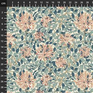 William Morris Granada in Honeysuckle Sky Fabric 0.5m