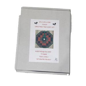 Allison Maryon's Jolly Holly-Day Christmas Tree Skirt in Gingerbread Kit