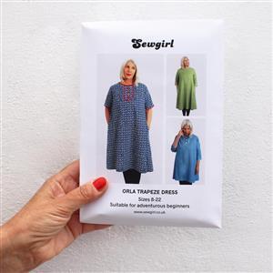 Orla Trapeze Dress Sewing Pattern By Sewgirl (Sizes 8-22)