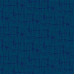 Stitched Effect Navy Fabric 0.5m