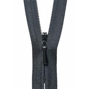 Black Concealed Zip 20cm