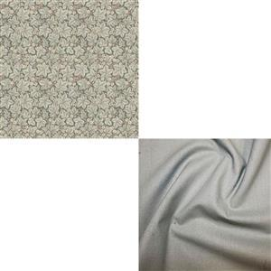 William Morris Granada in Brambles with Misty Blue Fabric Bundle (1m)