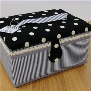 Large Polka Dot Sewing Box